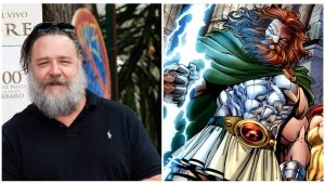 """Thor Love and Thunder"": Russell Crowe sarà Zeus!"